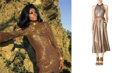 Diana Ross gold dress