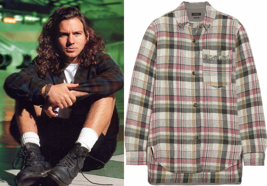 Eddie Vedder plaid shirt