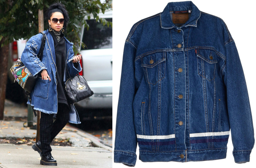 FKA twigs denim jacket