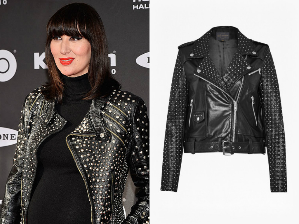 Karen O studded leather jacket