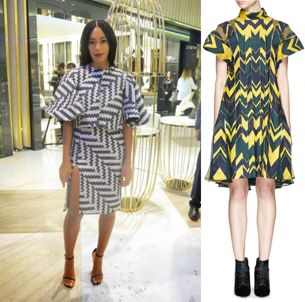 Solange zig zag chevron dress