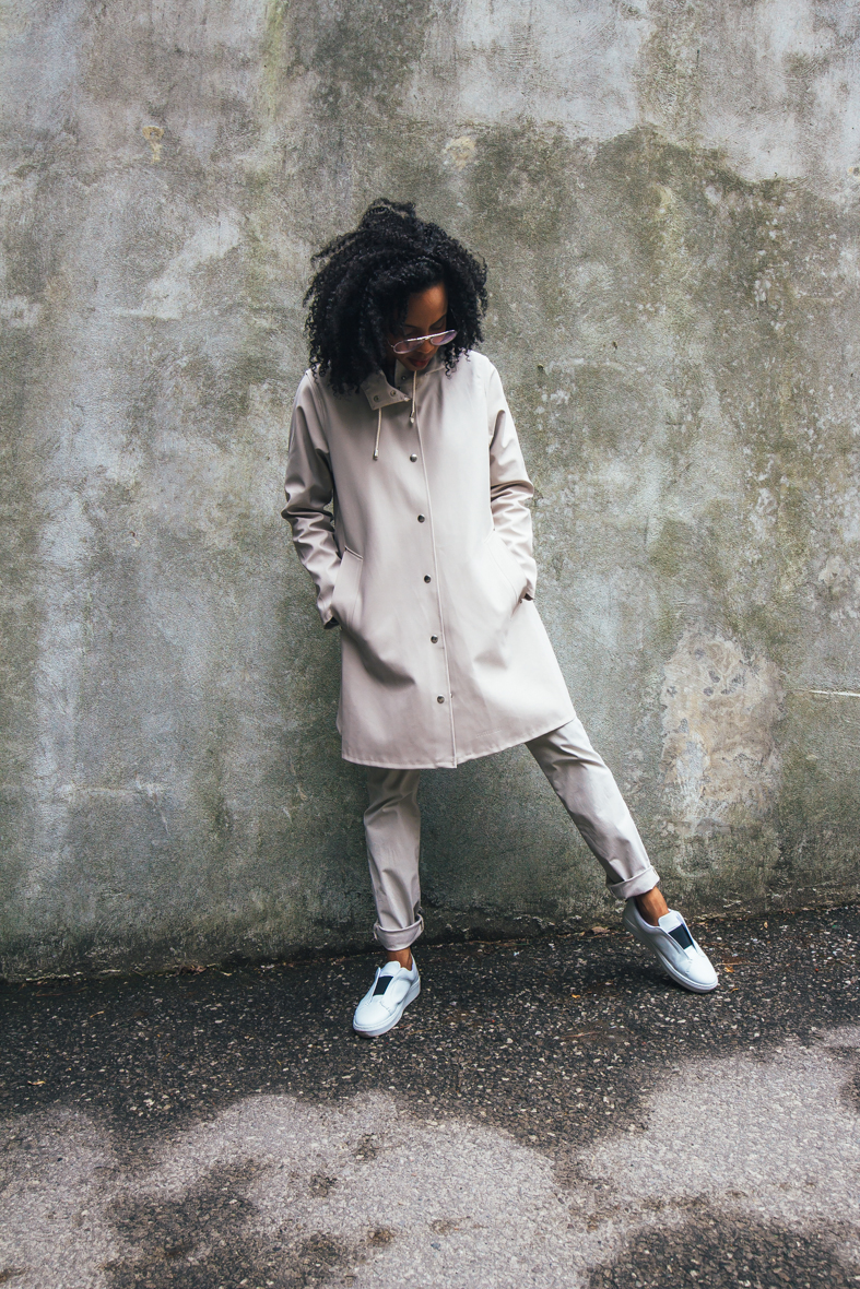 I'm surrendering to utilitarian minimalism with Stutterheim raincoats for stylish-but-practical spring. See how I style it on whoisbobbparris.com
