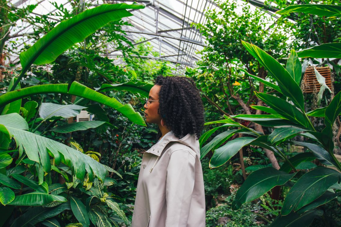 Michelle Bobb-Parris wearing the Stutterheim Mosebacke raincoat photographed by Cody M. Turner