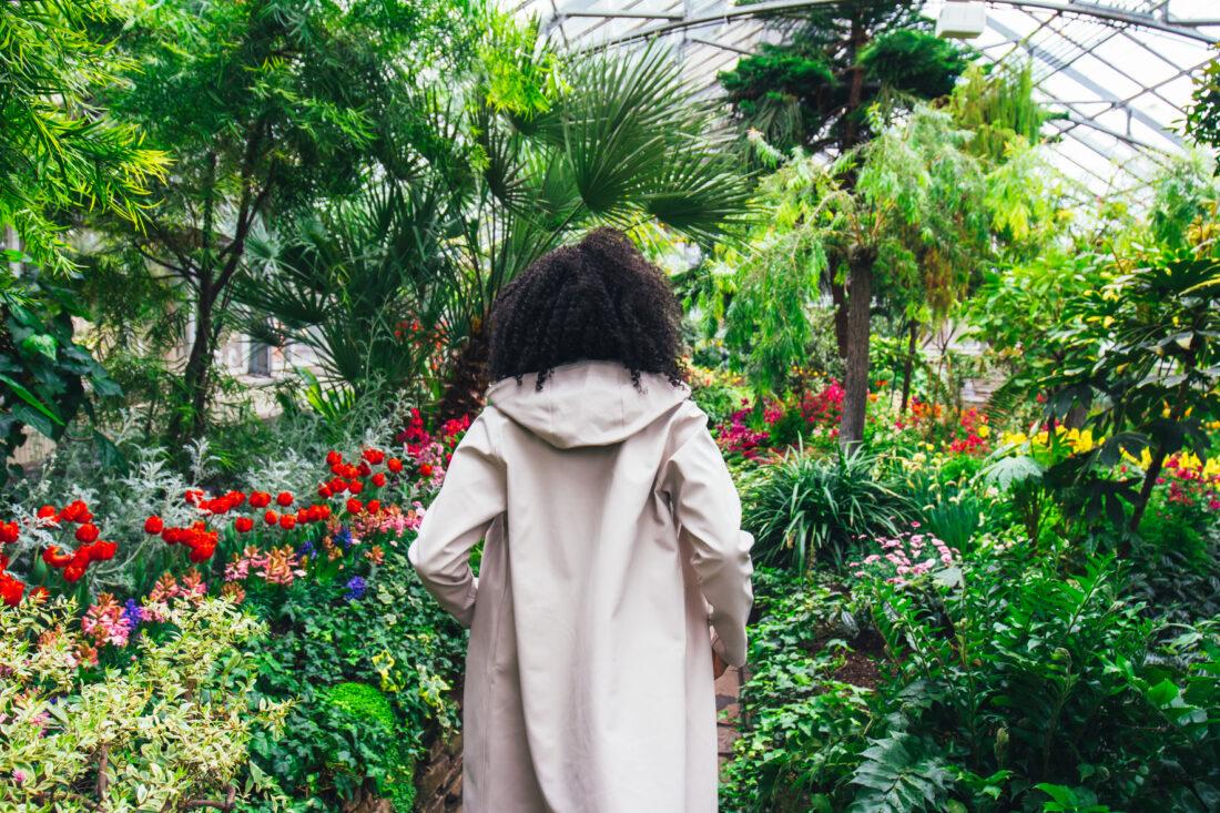 Michelle Bobb-Parris wearing the Stutterheim Mosebacke raincoat photographed by Cody M. Turner